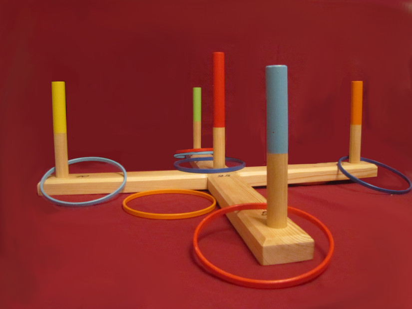 Traditional Lawn games quoits